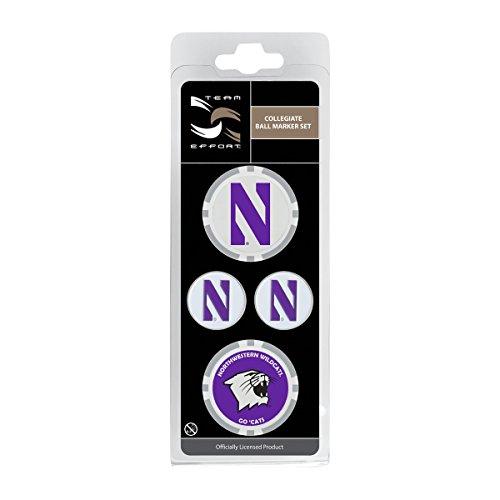 Team Effort Northwestern Wildcats Ball Marker Set