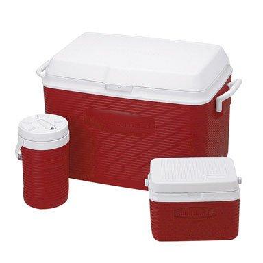 Rubbermaid Fg2a1702modrd 48 Quart Value Pack Coolers Assorted Colors (48 Quart Rubbermaid Cooler)