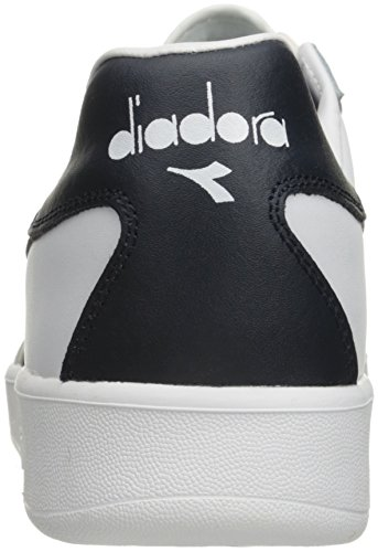 B Shoe Denim Blue Diadora Elite Men's White Court Blue 45BnxpOwqI