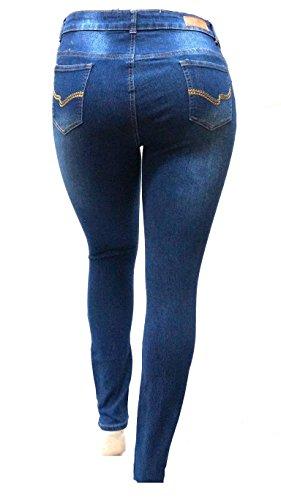 SL 1826 Womens Plus Size Stretch Distressed Ripped Blue Skinny Denim ... 14b056b47