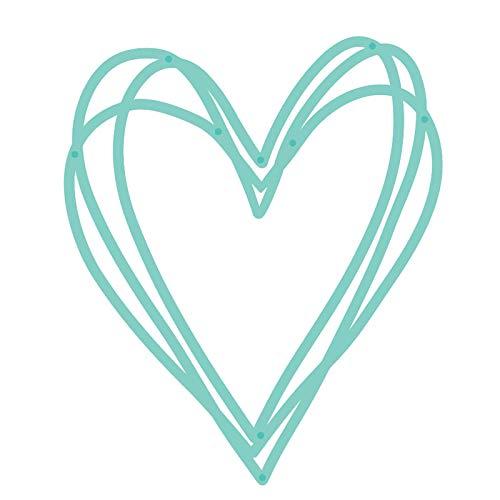 Sketched Heart Metal Cutting Dies Scrapbooking Craft Dies Cuts Decorative Thin Paper Art Words Emboss Card Make Stencil 64 * 76mm