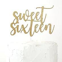 NANASUKO 16th Birthday Cake Topper - sweet sixteen - Premium quality Made in USA