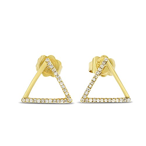 Diamond Triangle Earrings - 7