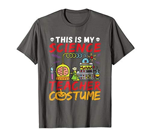 Science Teacher Costume T Shirt Halloween Mad Scientist