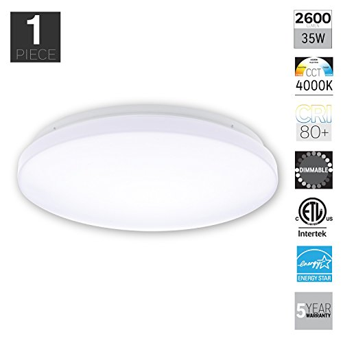 Honeywell KW326D801110 Round Ceiling Light, 2600 Lumens, 17-Inch White