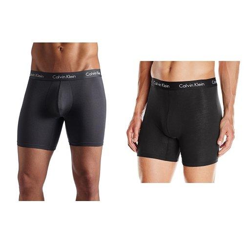 Calvin Klein Men's Underwear Body Modal Boxer Briefs 2 Pack, Mink/Black, X-Large
