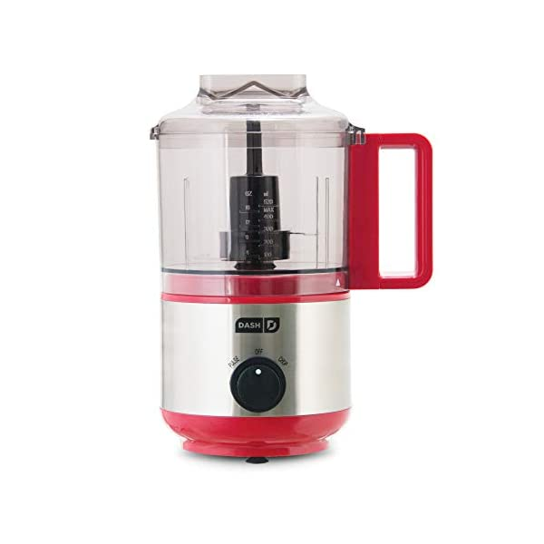 Dash DMFP100RD Mini Food Chopper, Blender + Grinder with Stainless Steel Blades for BBQ Sauce, Salsa, Pesto, Salad… 1
