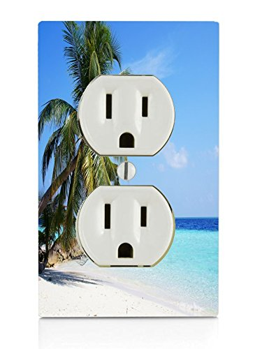 Beach Palm Tree Hammock Ocean Relax Electrical Outlet - Beach Palm Outlets
