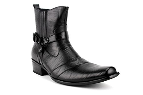 Delli Aldo Men's 698 Calf High Western Style Saddle Casual D