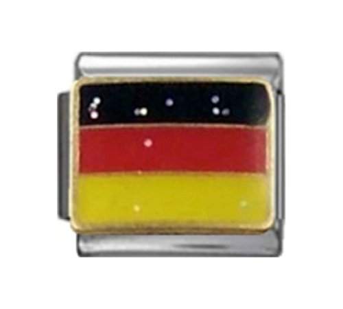 ny German Flag Enamel Italian 9mm Link PC251 ()