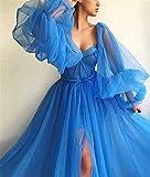 Puffy Sleeve Prom Dress for Women Long Sweetheart