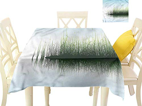 (WilliamsDecor BBQ Tablecloth Nature,Spring Time Sunset Lake Wrinkle Free Tablecloths W 70