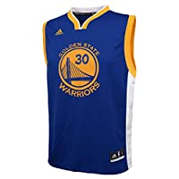 NBA Youth 8-20 Golden State Warriors Curry Replica Road Jersey-Blue-XL(18)