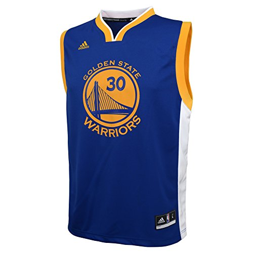 NBA Youth 8-20 Golden State Warriors Curry Replica Road Jersey-Blue-L(14-16)