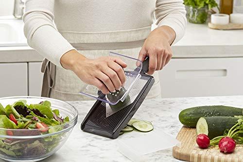 KitchenAid Adjustable Hand-Held V-Blade Mandoline Slicer, Black