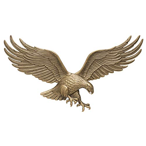 Whitehall Products Antique Brass Wall Eagle 00755, 36 inches wide by 11 inches high