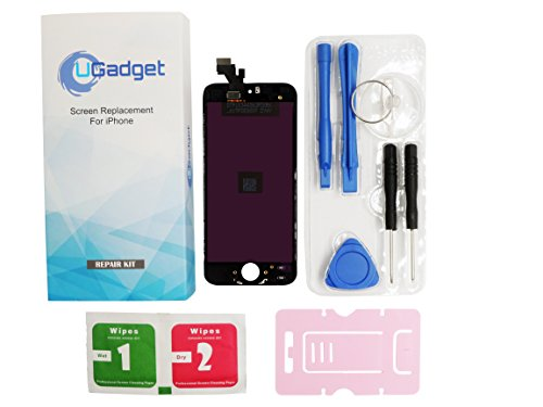 UGadget(for iPhone 5 ) new black LCD Touch Screen Digitizer Assembly replacement with tool kit for iPhone 5 (4