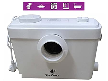 anywhere pump bathroom system white connected fresh macerating