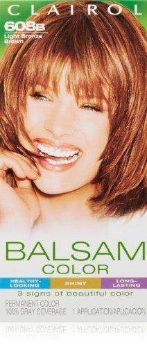 (Clairol Balsam Hair Color 608b Light Bronze Brown 1 Kit (Pack of 3))