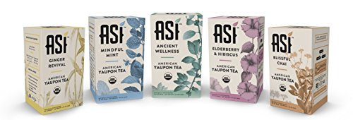 ASI Organic Yaupon Tea Box (20 Tea Bags) (Variety Pack - All 5 Blends)
