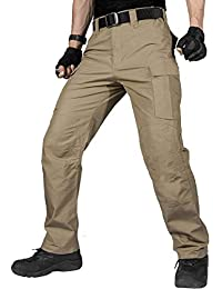 4f6151aeb141 Men s Water Resistant Pants Relaxed Fit Tactical Combat Army Cargo with Multi  Pocket