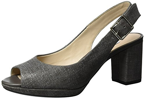 Grey Kelda WoMen Wedge Spring Grey Dark Clarks Heels Sandals 57UwRSxYYq