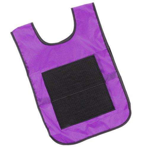 Homyl Sticky Ball Catch Vest, Team Practice Pinnies, Kids Babies Outdoor Game Cloth - Purple