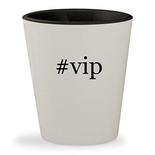 Price comparison product image #vip - Hashtag White Outer & Black Inner Ceramic 1.5oz Shot Glass
