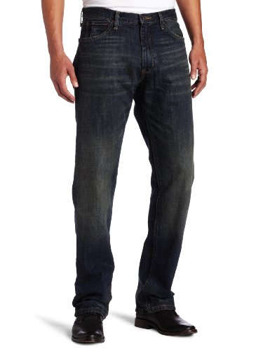Nautica Jeans Men's Relaxed Cross Hatch Jean, Rigger Blue, 34Wx34L