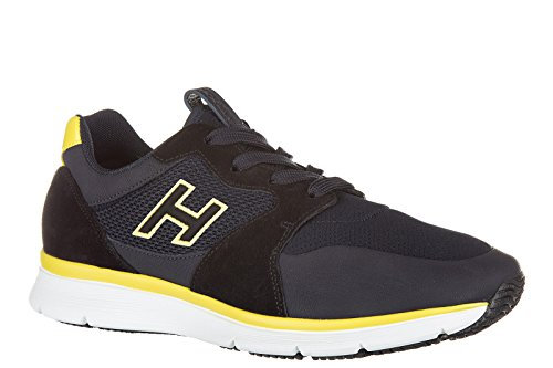 Hogan chaussures baskets sneakers homme en daim h254 h flock blu