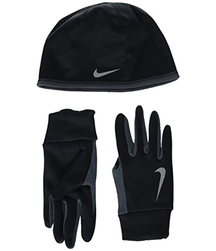 Nike Men's Running Thermal Beanie & Glove Set (Mens Running Winter Hat)