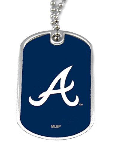 Atlanta Braves Dog Tag Domed Necklace Charm