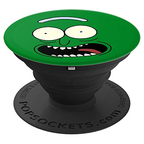 rick face funny green gift - PopSockets Grip and Stand for Phones and Tablets ()