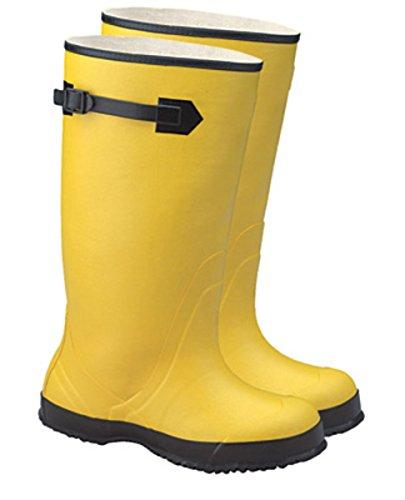 Radnor® Størrelse 10 Gul 17 Gummi Over-the-skoen Støvler Med Riflete Yttersåle