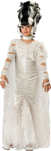 (In Character Costumes, LLC Girls 7-16 Monster's Bride Full Length Gown Set, White,)