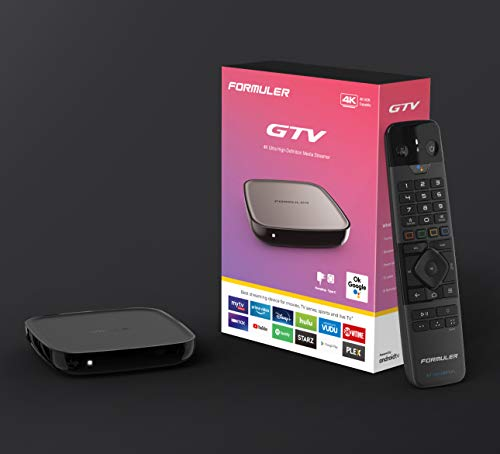 Formuler GTV 4K UHD Android 9.0 TV IP mediaspeler H.265 HEVC, 16 GB Flash, 2 GB DDR4, Bluetooth afstandsbediening, 2.4/5…