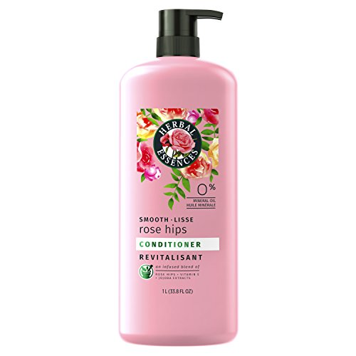 Clairol Herbal Essence Herbal Shampoo - Herbal Essences Smooth Collection Conditioner with Rose Hips & Jojoba Extracts, 33.8 fl oz(Packaging May Vary)