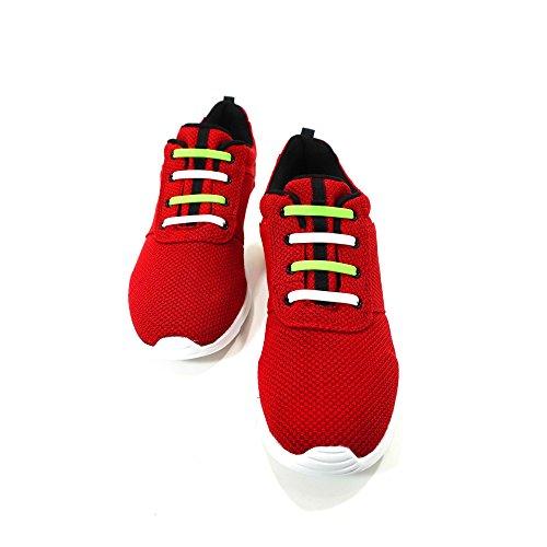 Zapatos Cordones Blanco De Y Slaces Verde 7YUwCqxf