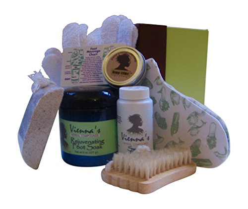 Summer Aromatherapy 8-pc Foot Care Gift Set in Gift Ready Box. Cleanse, Soothe, Moisturize and Pamper for Beautiful Feet. 100% Natural