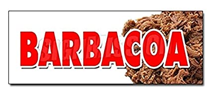 "24"" BARBACOA DECAL Sticker Caribbean Mexico Mexican Pork Beef Goat Barbecue - Sticker Graphic -"