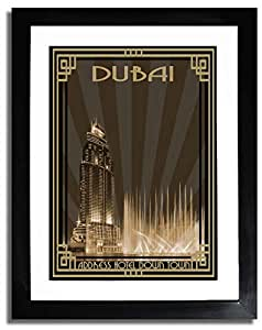 Address Hotel Down Town- Sepia With Gold Border F07-m (a1) - Framed
