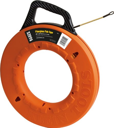 200 Fish - Fish Tape 200-Foot is Non-Conductive Fiberglass, Flexible for Conduit Measuring as Pull Line Klein Tools 56014