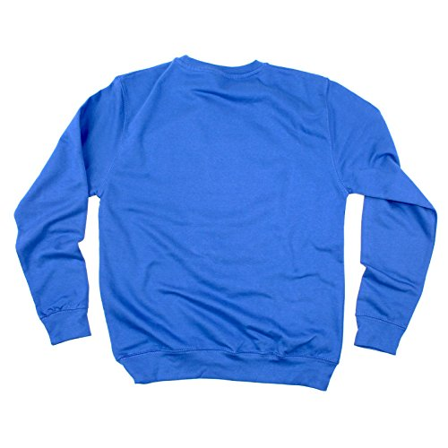 80 Royal SWEATSHIRT Blue Kid Dress Costume s party eighties Disco Retro 80s Fancy OB8qf8wU