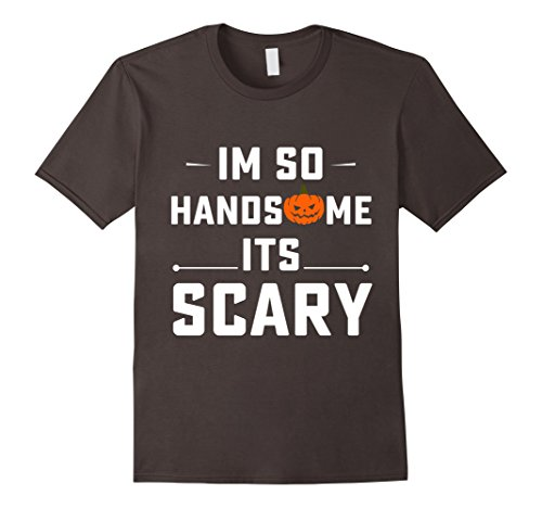 Mens Halloween Costume T-shirt I Am So Handsome It's Scary Large (Homemade Ghost Costumes For Halloween)