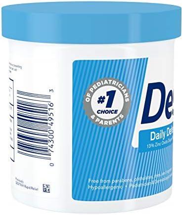 41X9z1 %2BF5L. AC - Desitin Daily Defense Baby Diaper Rash Cream With 13% Zinc Oxide, Barrier Cream To Treat, Relieve & Prevent Diaper Rash, Hypoallergenic, Dye-, Phthalate- & Paraben-Free, 16 Oz