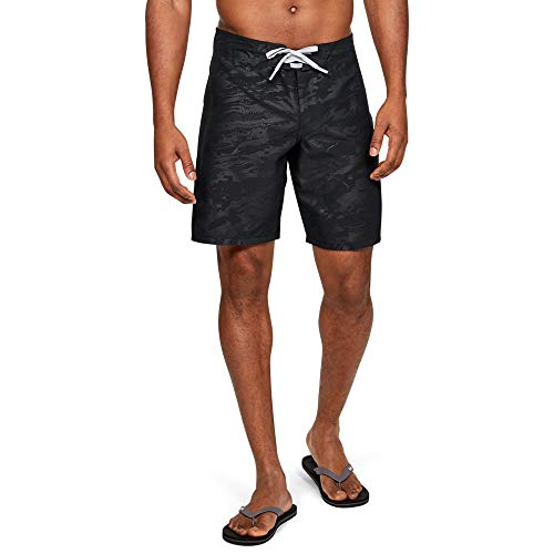 Under Armour Shore Break Emboss Boardshort, Black/Black, 38
