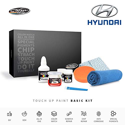 Color N Drive | Hyundai JR - Pearl White/White Pearl Touch Up Paint | Compatible with All Hyundai Models | Paint Scratch, Chips Repair | OEM Quality | Exact Match | Basic (Hyundai Touch Up Paint)