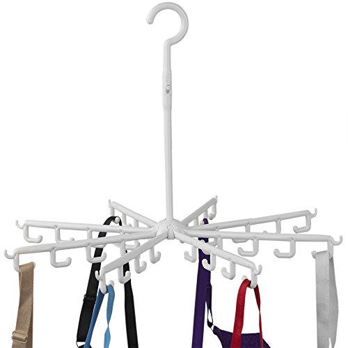 Home Basics 40 Hook Plastic Drying Rack Hanger, White