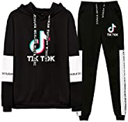 TIK ToK Hoodie and Pant Set Unisex Sweater Pants Fashion Trendy Printed Clothes
