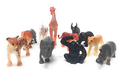 Wild Jungle Small Animal Figurine Assortment Set (2 Packs of 12)